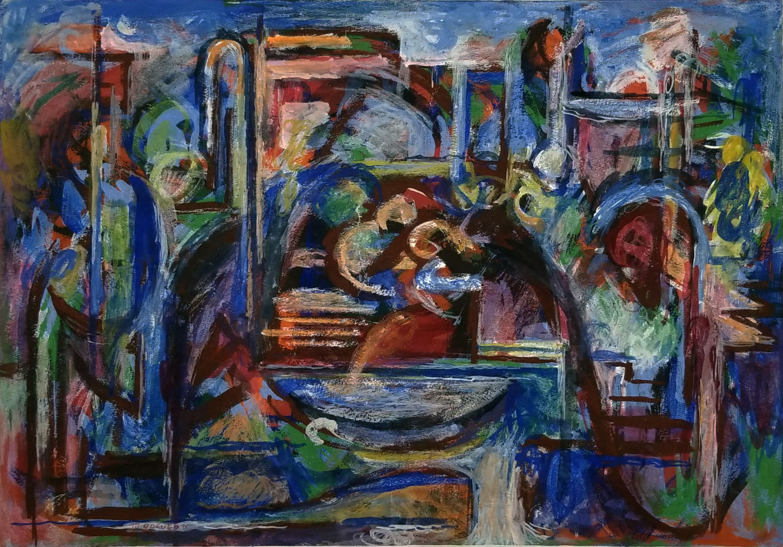 Maurice Golubov Abstractions - Blue Nocturnal