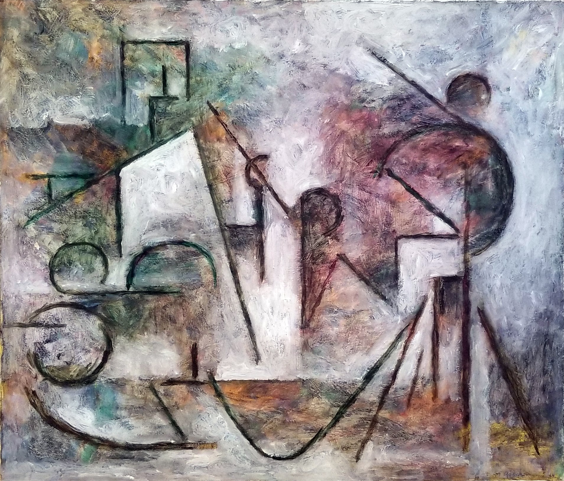 Maurice Golubov Abstractions - Untitled 1944